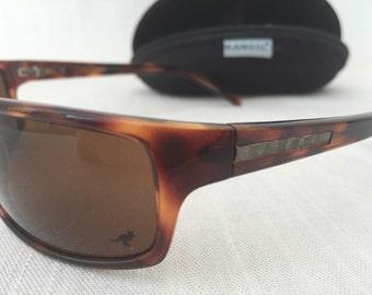 KANGOL Vintage Sunglasses Tortoise Frame Brown Lenses in original case