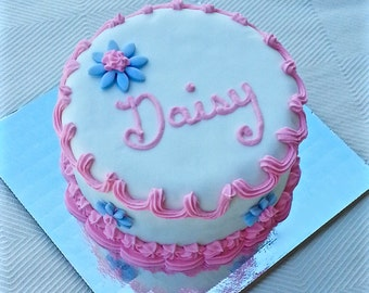 Dog Birthday Cake with Gorgeous Decorations and Your Dog's Name for Dogs and Puppies