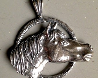 New Item!  Handmade Quarter Horse Pendant in Sterling Silver or Gold