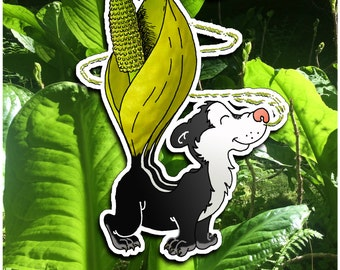 Skunk cabbage - by Decaffeinated Designs 3x3 inch vinyl sticker