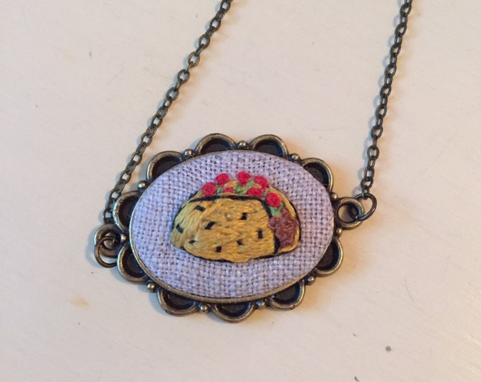 Taco Lover Necklace - foodie, chef, food lover