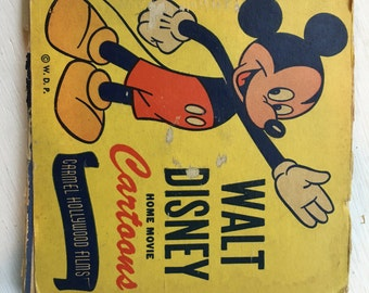 Vintage Walt Disney Home Movie Cartoons, 8 MM Film from Carmel Hollywood Films,