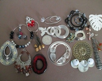 Lot of 45+ New Stock Pendants---Look at 3 Photos---Destash Recreate Upcycle Craft Repurpose Recycle Supplies