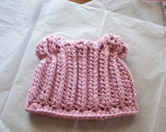 Crochet Teddy Bear Hat for Girls