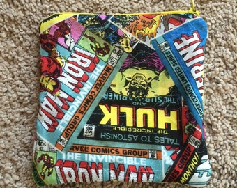 Comic Snack bag, a pouch, cosmetic bag.