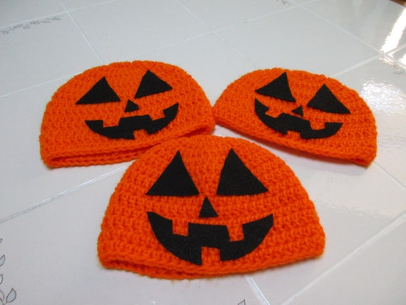Crochet Pumpkin Hat in Toddler/Young Child Size