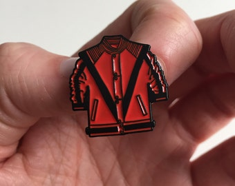 Thriller Enamel Pin! Michael Jackson inspired enamel pin! Halloween, monsters, 80s, zombies,
