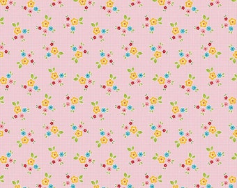 Bloom and Bliss floral pink by Nadra Ridgeway of Ellis and Higgs for Riley Blake
