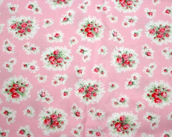 Paris Bebe Pink POSH ROSETTES Vintage 2006 Fabric by the Half Yard