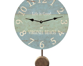 Personalized Beach Clock- Pendulum Clock