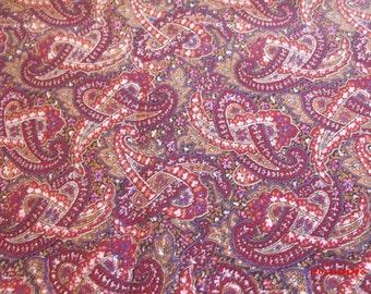 Fabric Vintage Paisley Print