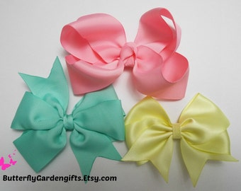 Mix and Match hair bow clip size medium