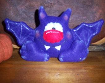 Primitive HC Halloween Whimsical Bat Shelf Sitter Ornie Tuck