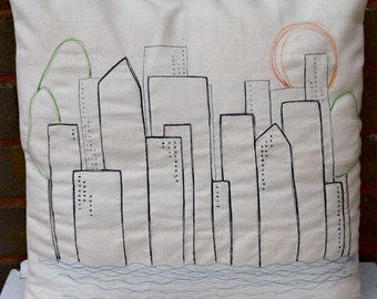 Cityscape Cushion Cover