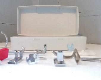 SALE, Sewing Machine Attachments, Sewing Machine Parts, Sewing Machine Attachment Box, Vintage