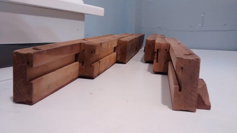 Antique table extension slides wood furniture