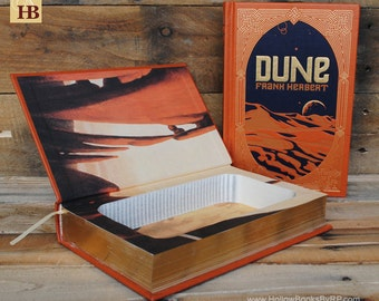 Book Safe - Dune - Leather Bound Hollow Book Safe