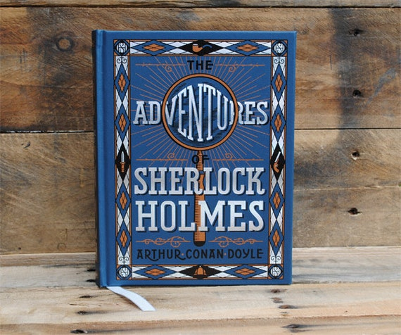 Book Safe - The Adventures of Sherlock Holmes - Blue Leather Bound Hollow Book Safe