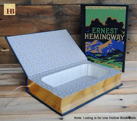Book Safe - Ernest Hemingway - Leather Bound Hollow Book Safe
