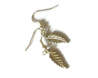 Silver-Look Leaf Earrings