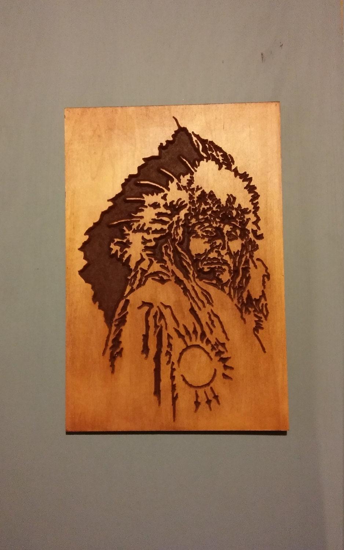 Native American Wood Wall Art Wood Carving Native American