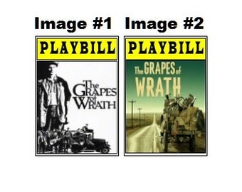 Theater / Show Charm - Playbill Play Bill - The Grapes of Wrath
