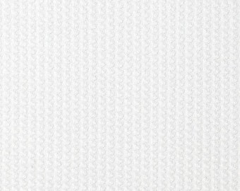 "White Pique Cotton Fabric, 45"" Inches Wide – 15 Yards By Roll"