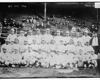 Boston Red Sox Baseball Team, 1916