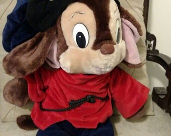 Large FIEVEL An AMERICAN TAIL 1980's 1986 22 inch plush stuffed animal in wonderful condition! Sears, by Caltoy