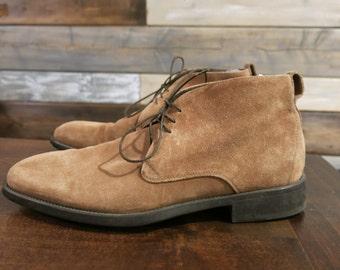 Salvatore Ferragamo Men's Pioneer Suede Chukka Ankle Boots 7 8 7.5