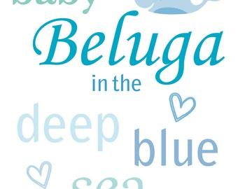Baby Beluga Nursery Prints