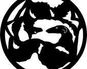 UniQ Borzoi & Wolf vinyl sticker