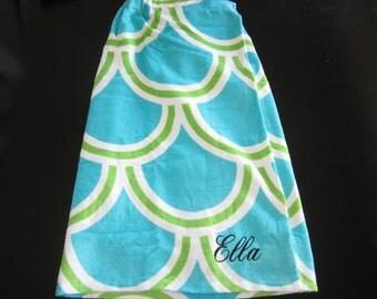 Kids Monogrammed Towel Wrap - Unique - Personalized - Kids Towel Wrap - Shower Wrap - Personalized Gift for Kids - Spa Wrap -  Towel Wraps