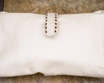 Leather Diaper Clutch