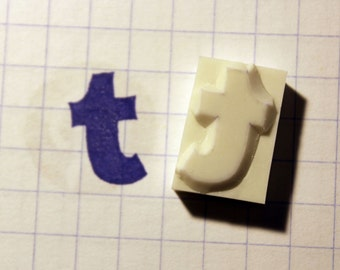 Tumblr Rubber Stamp Hand Carved  Ready to ship