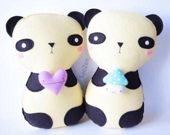 X-Large Kawaii Panda Plushie Set (READY TO SHIP)