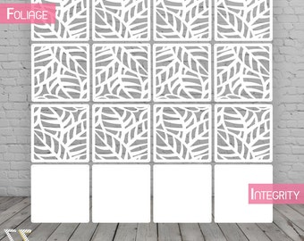 Room divider screen / Partition wall / Room divider / Foliage - 12 pieces