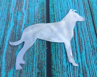 Smooth Collie, Tree Topper, Yard Stake, Garden Decoration, Wall Hanging, Metal Dog Art, Aluminum, Pet Memorial, Handmade