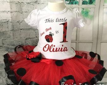 Ladybug birthday outfit, Ladybug outfit, Ladybug first birthday outfit, ladybug tutu, ladybug tutu outfit, Ladybug 1st birthday outfit