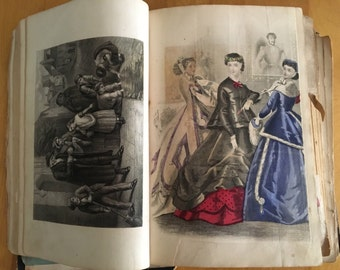 1867 Godey's Lady's Book - Antique Womens Book - Antique Women's Fashion Magazine