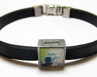 Drums Music Link With Choice Of Colored Band Charm Bracelet
