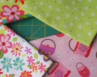 Extra 25% off Girly Girl by Dana Brooks for Henry Glass 5 fat quarters