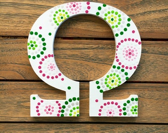 greek letter wall art omega greek wall decor pink green white wall words greek life big sis sorority custom letters sorority letters
