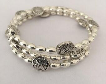 Silve Memory Wire Bracelet