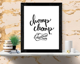 Chomp Chomp UF art,UF dorm art, University of Florida art