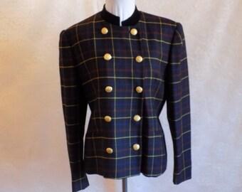 Vintage Jones of New York Military Style Women's Wool Jacket
