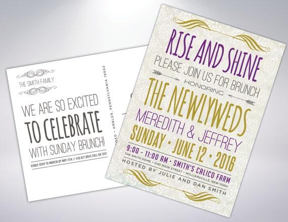 Post Wedding Brunch Invitation Wording: Wedding Brunch Invitation Postcard Optional