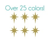 Twinkle Star Nail Decals - Vinyl, Custom Color Choice