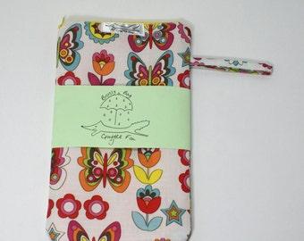 Brolly bag, wet bag, umbrella bag, small waterproof, butterfly, flowers