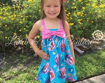 The Little Mermaid Hattie's Big Bow Sun Dress with Free Shipping